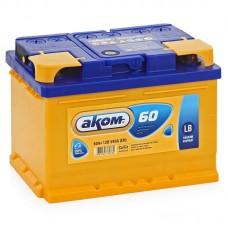 Аккумулятор AKOM 60 А/ч 590А LB R+ (низкий формат)