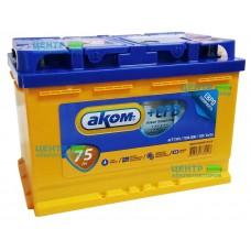 Аккумулятор АКОМ 75 А/ч 720A +EFB