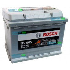 Аккумулятор BOSCH S5 005 Silver Plus 63 A/ч 610A