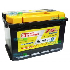 Аккумулятор General Technologies Premium 75 А/ч 760А