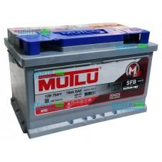 Аккумулятор Mutlu 75 А/ч 750A (SAE) R+ LB3 (низкий формат)
