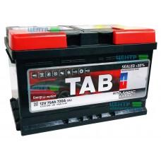 Аккумулятор TAB Magiс 75 А/ч 720A R+ LB3 (низкий формат)