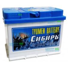 """Аккумулятор Тюмень """"Сибирь"""" 60 А/ч 530А"""